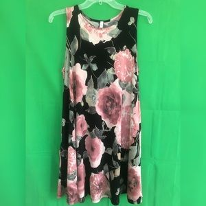 MTS Sleeveless Swing Floral Dress with Pockets
